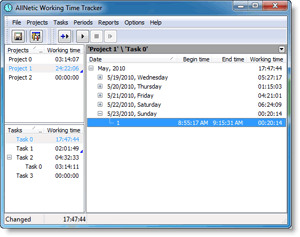 AllNetic Working Time Tracker screenshot